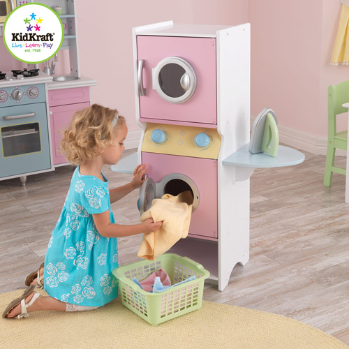 KidKraft Wooden Laundry Play Set with Iron and Laundry Basket
