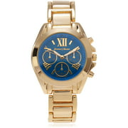 Women's Roman Numeral Link Fashion Watch, Blue/Gold