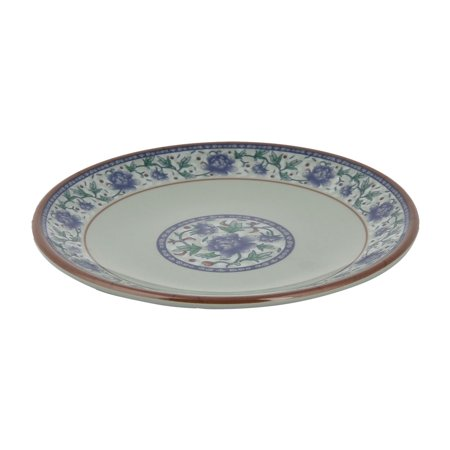 Household  Floral Pattern Round Food Fruit Salad Dish