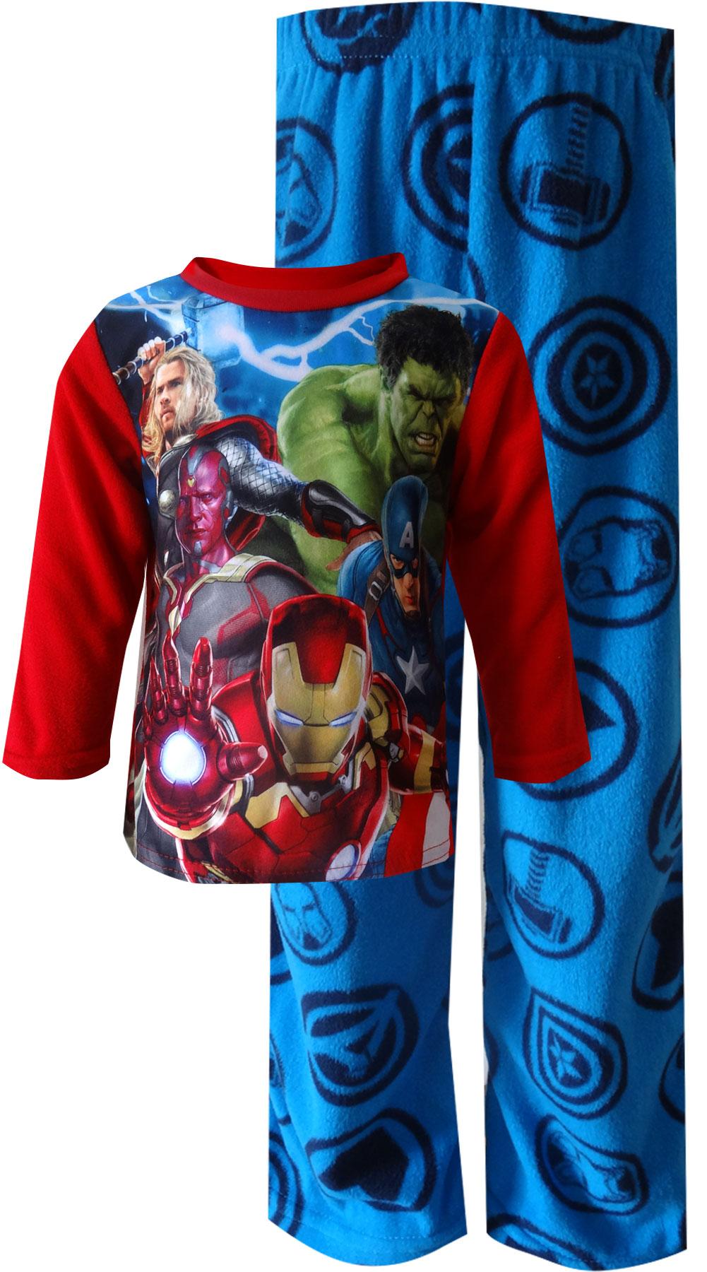 Marvel Comics Avengers Movie Image Fleece Pajamas