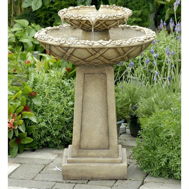 Jeco Birdbath Outdoor Water Fountain by Birdbaths