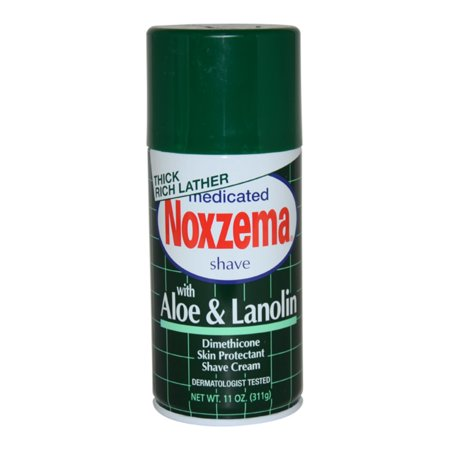 Medicated Shave Cream with Aloe and Lanolin Noxzema 11 oz Shave Cream