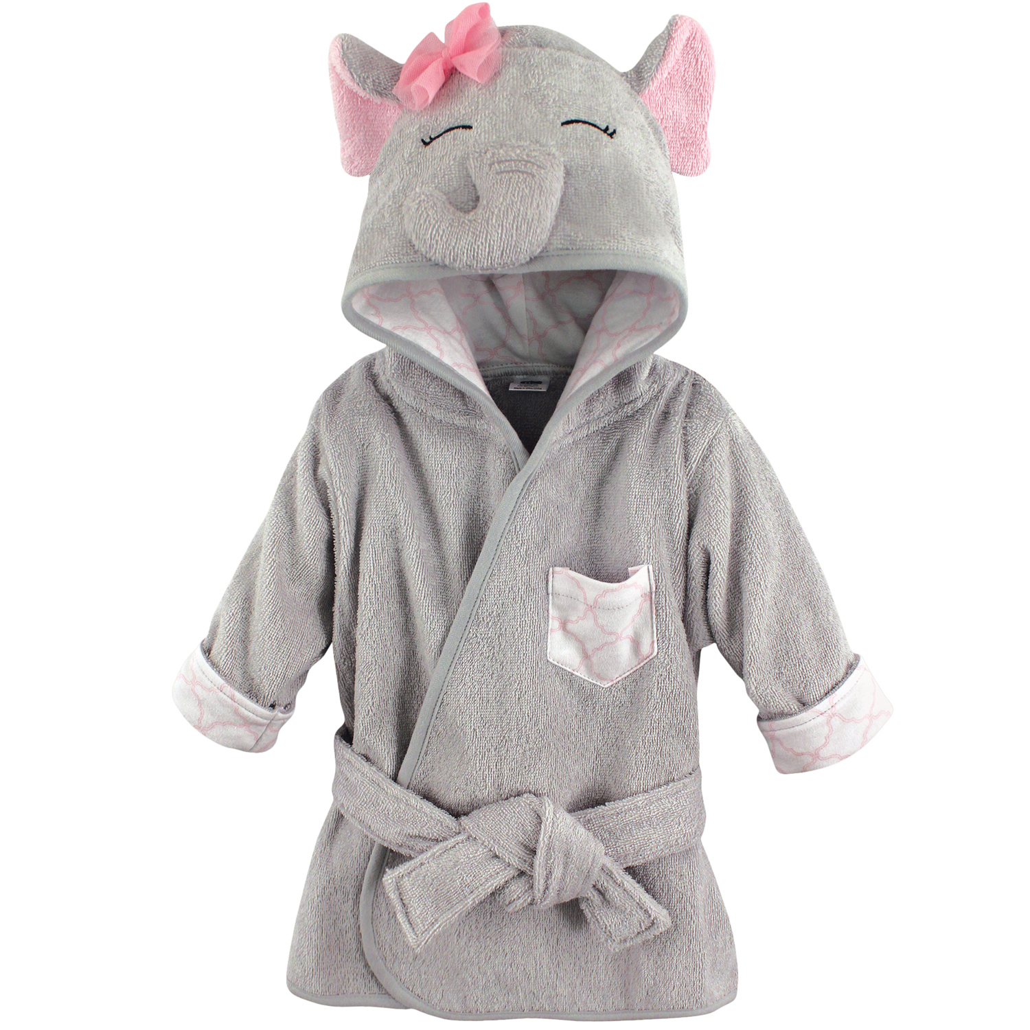 Woven Terry Animal Bathrobe - Pretty Elephant