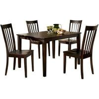 Ashley Furniture Hyland 5 Piece Dining Set in Reddish Brown