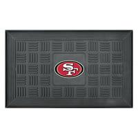 "San Francisco 49ers 19"" x 30"" Vinyl Medallion Door Mat - Black"