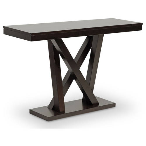 Baxton Studio Everdon Modern Espresso Dark Brown Console or Sofa Table