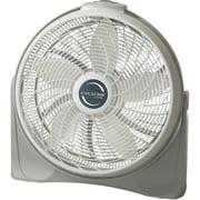 "Lasko 20"" Cyclone Power 3-Speed Air Circulator Pivoting Floor Fan with Wall-mount Option, Model 3520, White"