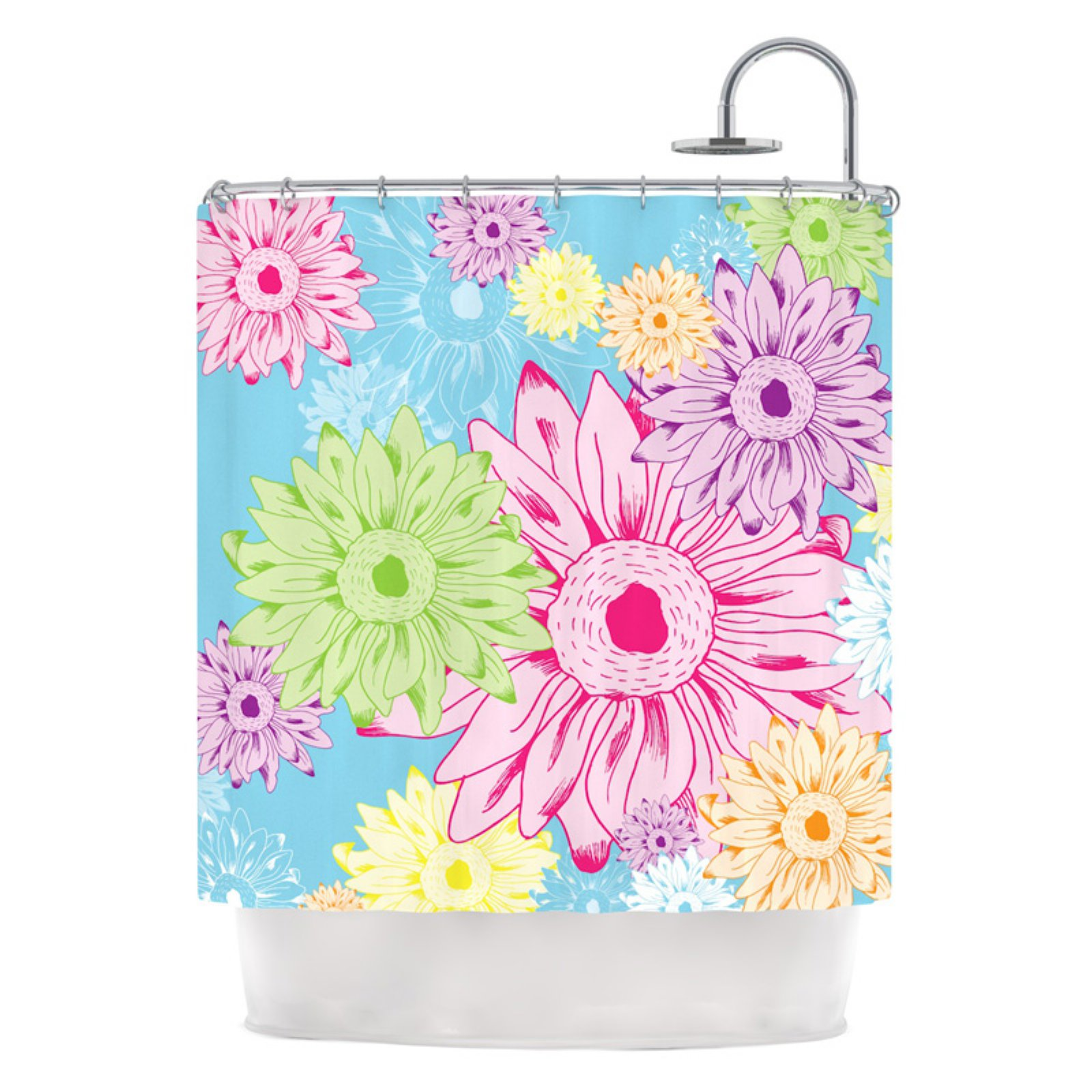 "Kess Inhouse Laura Escalante ""Summer Time"" Shower Curtain"
