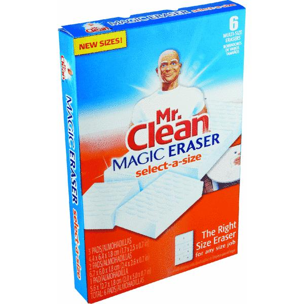 Mr. Clean Magic Eraser Select-A-Size Cleaning Pads, 6 count