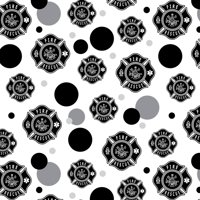 Firefighter Fire Rescue Maltese Cross Premium Gift Wrap Wrapping Paper Roll Pattern
