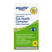 Equate Advanced Eye Complex Dietary Supplement Softgels, 140 Count