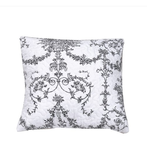 DaDa Bedding Victorian Candelabra Quilted Cotton Pillow Cover (Set of 2)