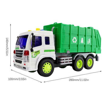 Large 1/16 Garbage Truck Bin Lorry Light & Sound Rubbish Recycling Trash Car - image 4 of 5