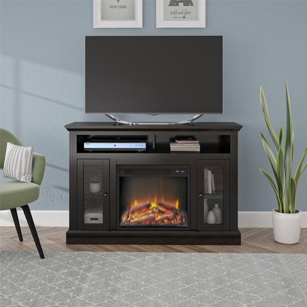 """Ameriwood Home Chicago Electric Fireplace TV Console for TVs up to a 50"""" Multiple Colors"""
