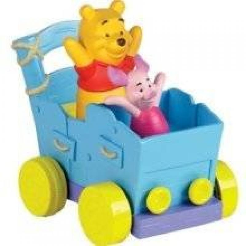 Winnie the Pooh Push n Play Buddy Buggy Winnie and Roo. Imported from UK. by Disney