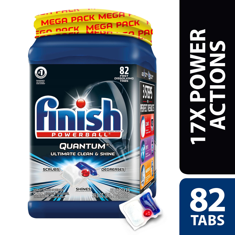 Finish Quantum 82ct, Dishwasher Detergent Tabs, Ultimate Clean & Shine
