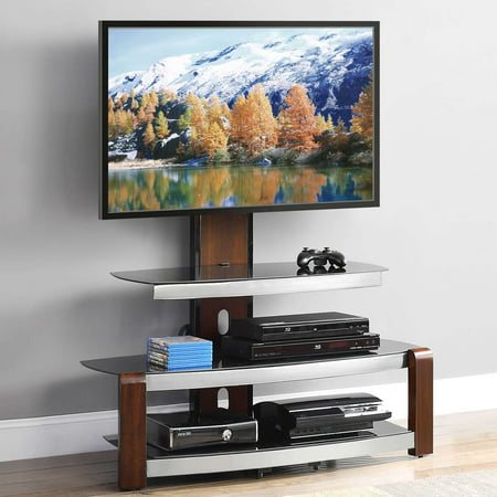 Whalen Swinging Tv Stand For Tvs Up To 47   Brown Cherry