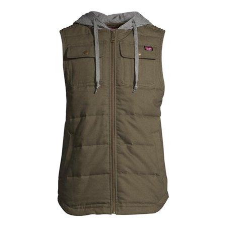 Wrangler Men's Flex Work Vest with Comfort Fleece Hood