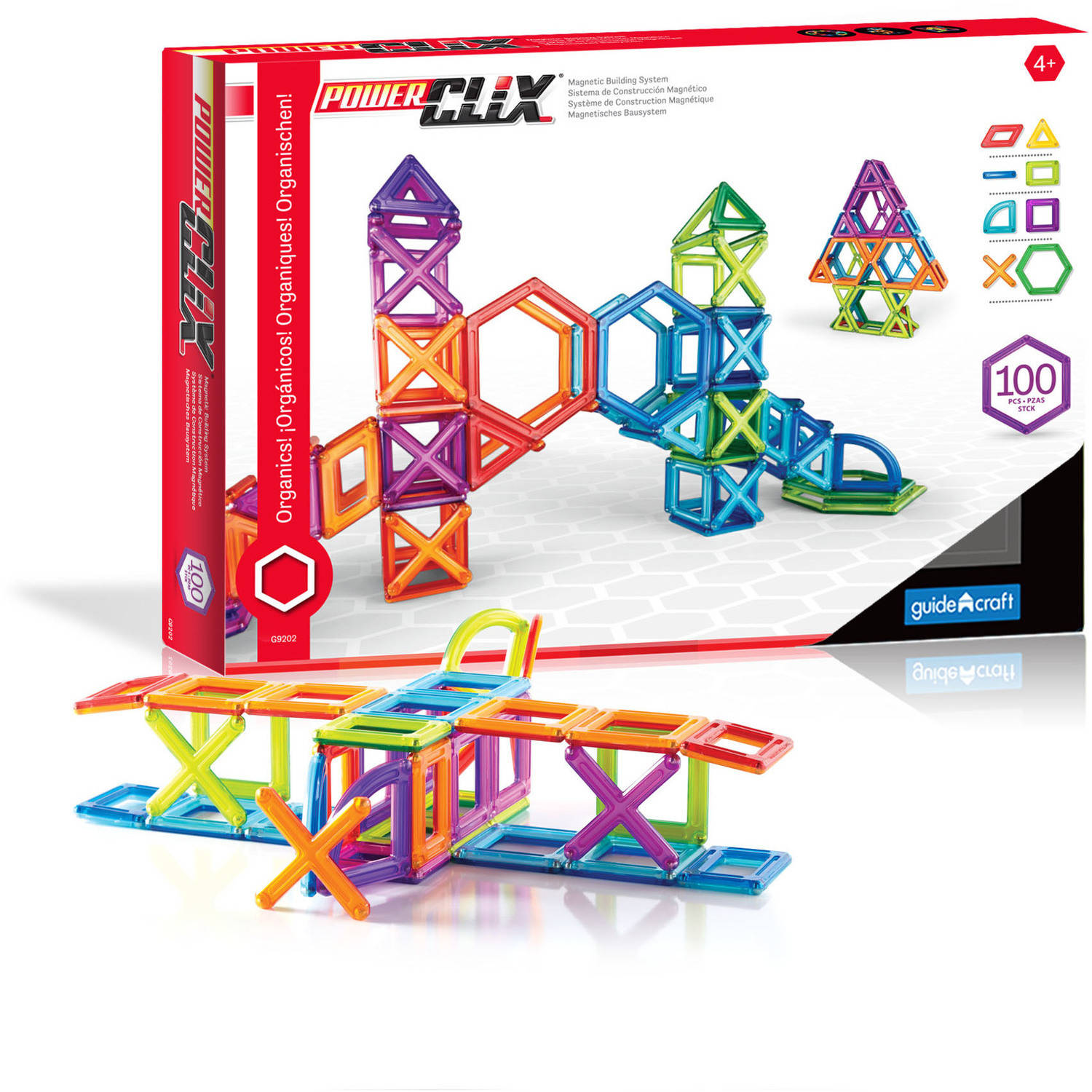 Guidecraft PowerClix 100-Piece Classroom Set