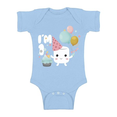 Awkward Styles First Birthday Baby One Piece Baby Birthday Marshmallow Outfit for Baby Boy and Baby Girl 1st Year Party Marshmallow Gifts Baby Bodysuit Short Sleeve Newborn Baby Girl Clothes](1st Birthday Gift Ideas For Boys)