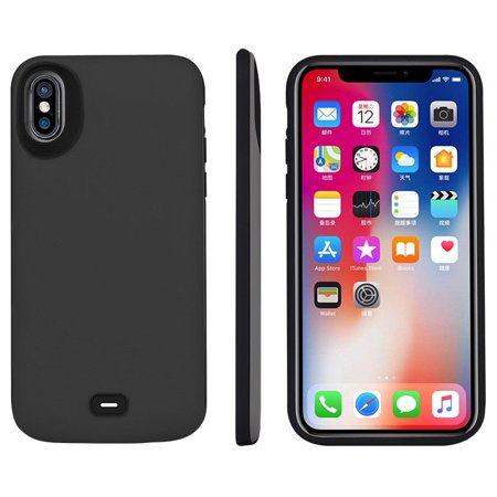 the latest 39e29 ce9d9 iPhone X Battery Case [Support Qi Wireless Charging,Lightning  Headphone],5000mAh Rechargeable Charging Case Extended Battery Power Bank  Portable ...