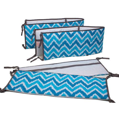 Bacati Mix N Match Bumper 2 Piece Crib Bedding Set