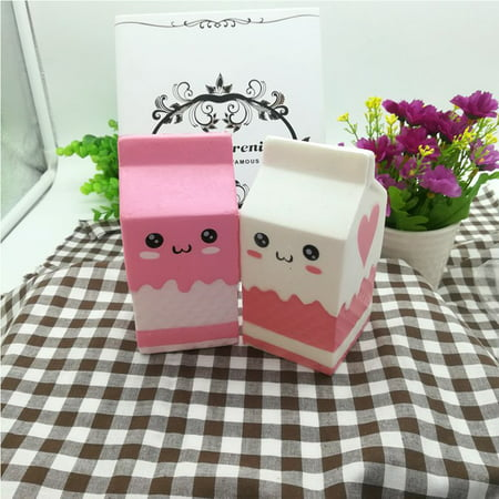 Cute Slow Rising Milk Bag Toys Soft Squishy Milk Box Stress Anxiety Reducer Creative PU Vent Toy - image 4 de 6