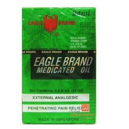 MEDICATED OIL External Analgesic (Penetrating Pain Relief) 24ML (O.8 OZ) x3pkAuthentic manufacturer has new logo - Eagle brand logo is now red. By Eagle Brand