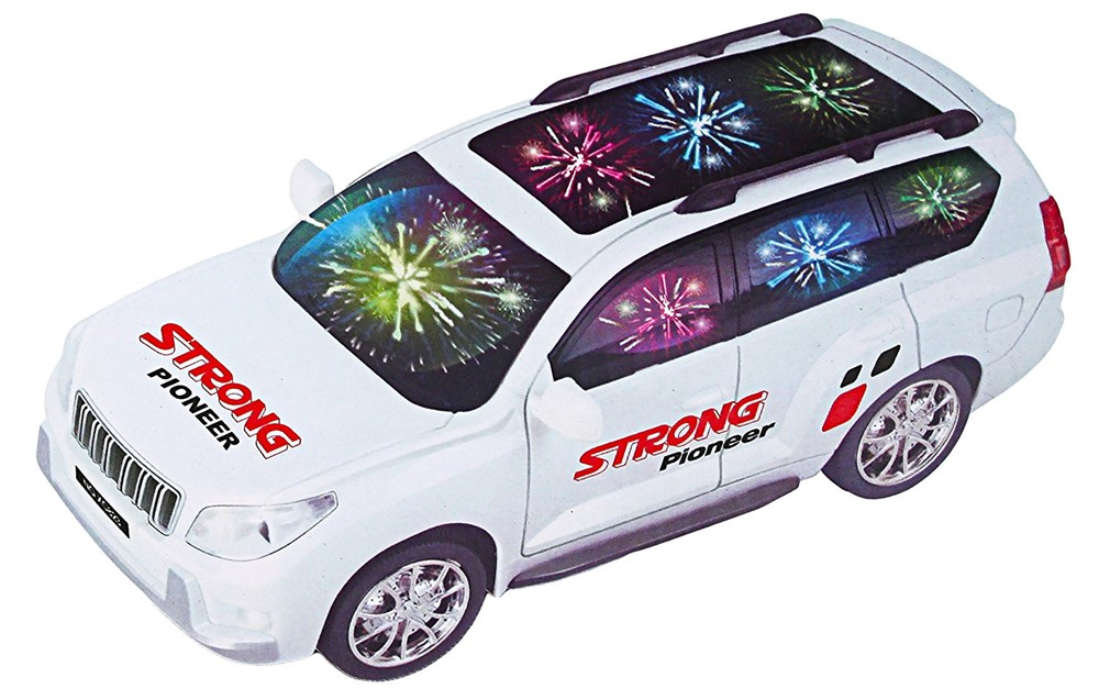 Bezrat Pioneer BUMP 'N' GO Car With Lights, Sirens And Sounds, Goes Around And Changes... by