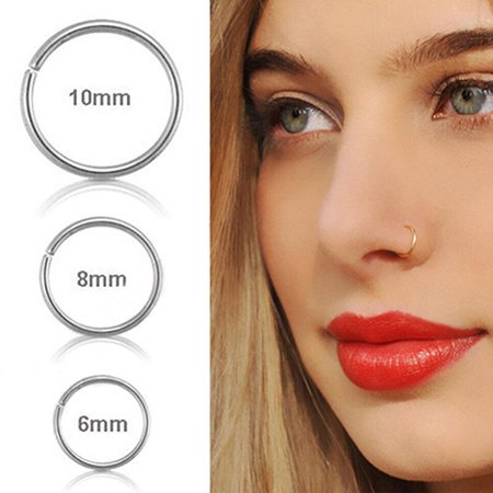 Girl12queen Girl12queen 1pc Surgical Steel Thin Small Nose Ring