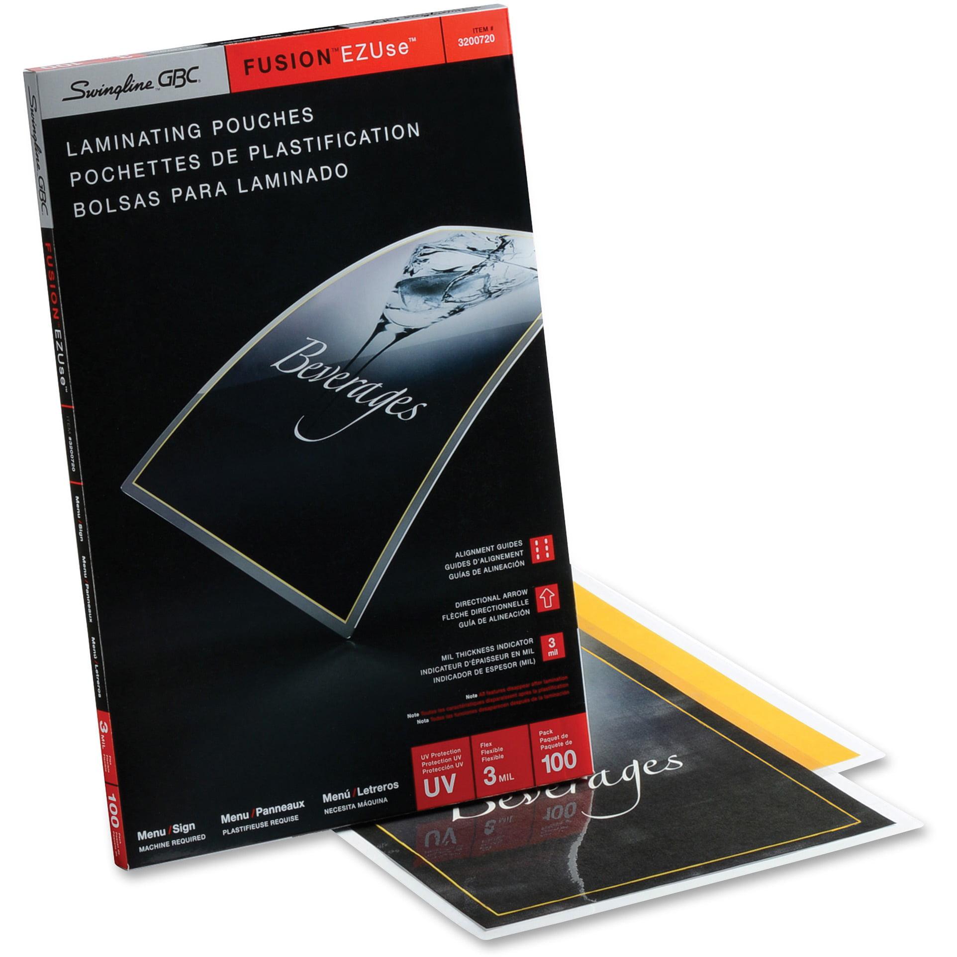 Swingline GBC, SWI3200720, EZUse™ Thermal Laminating Pouches, 100 / Box, Clear