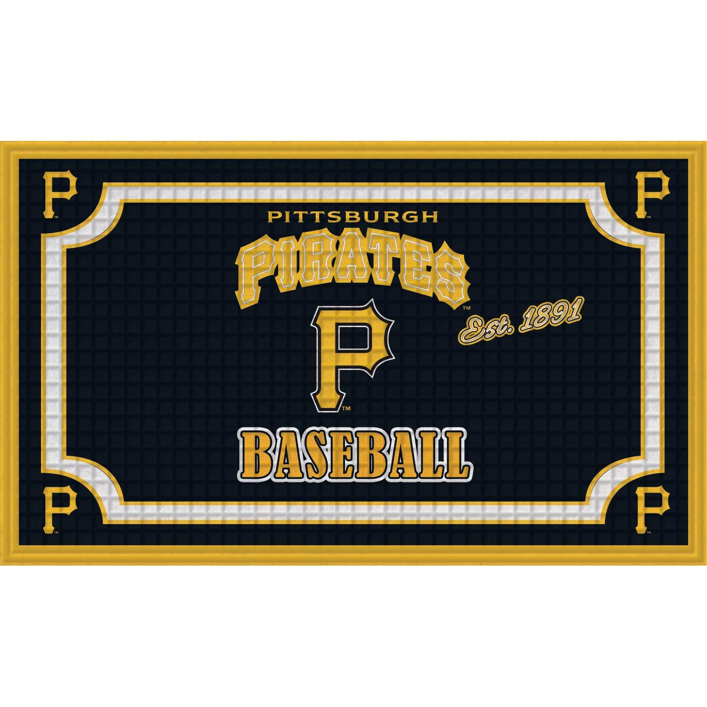 Pittsburgh Pirates Embossed Door Mat - No Size