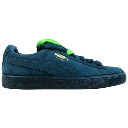 PUMA Men's Suede Classic - Mono Iced Sneaker Blue Coral/Team Gold 6.5