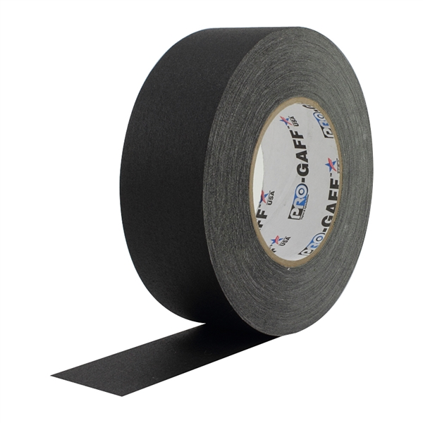 2 Inch Black Pro Gaffer Gaffers Tape 55 yd roll