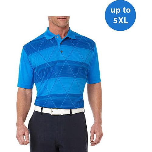 Ben Hogan Big Men's Short Sleeve Print Argyle Stripe Fashion Polo