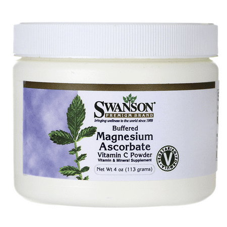 Swanson Buffered Magnesium Ascorbate Vitamin C Powder 4 oz (Vitamin C Powder Buffered With Calcium And Magnesium)