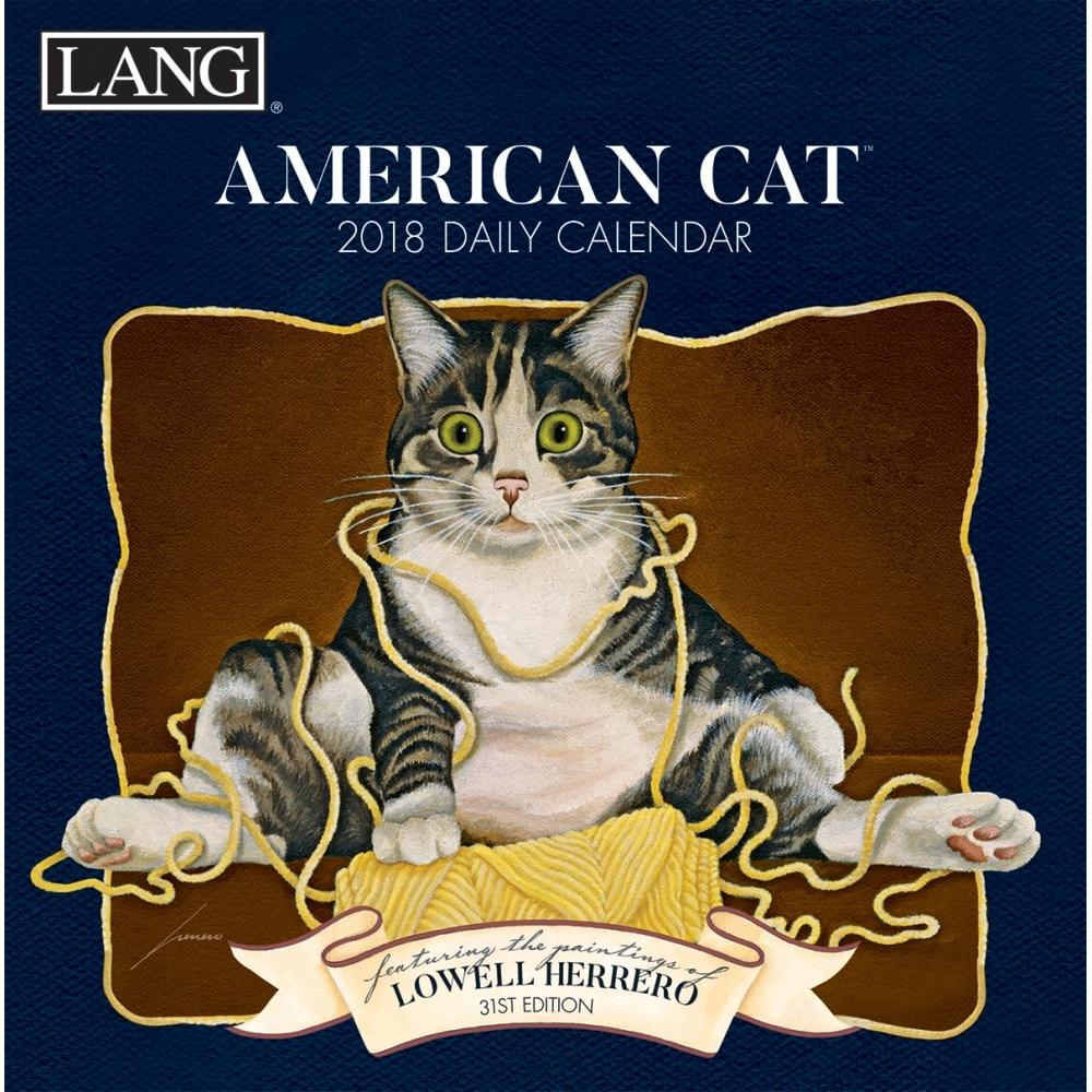 American Cat Desk Calendar Cat Art By Calendars Walmart Com