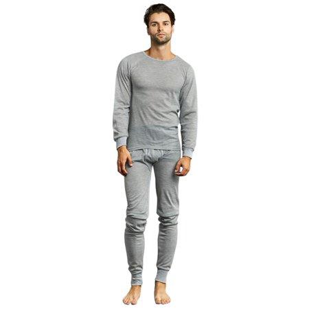 c3465511a054e Luxury Divas - Men s Thermal Crew Neck Top   Bottoms Long Johns Underwear  Set - Walmart.com