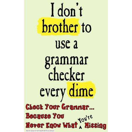 Youth Change Poster # 215 Humorous Teacher Classroom Posters for Writing, Language Arts, Grammar, Spelling for $<!---->