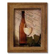 White G Wine Gl And Bottle Kitchen Tuscan Wall Picture 8x10 Art Print