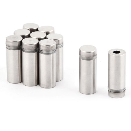 Uxcell Stainless Steel Picture Frame Nail Glass Standoff Mount Bolt Silver Tone (10-pack)