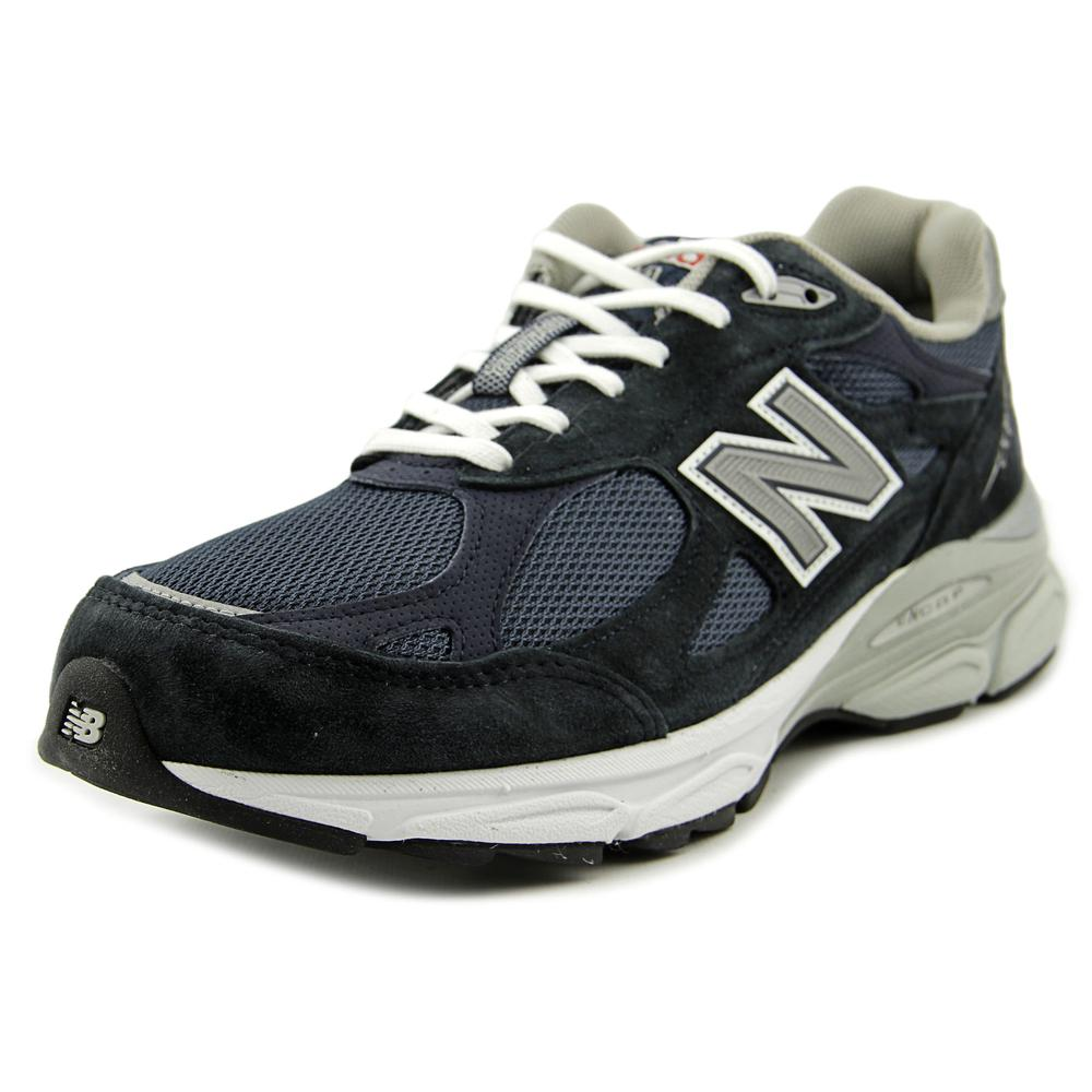 New Balance M990 Men 2E Round Toe Suede Blue Running Shoe by New Balance
