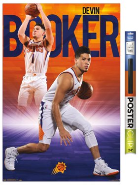 NBA Phoenix Suns - Devin Booker Premium Poster and Poster Clip Bundle