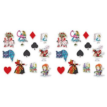beistle 54781, 24 piece alice in wonderland cutouts, 6