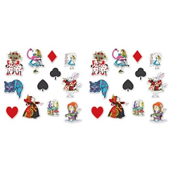 "Beistle 54781 24 Piece Alice in Wonderland Cutouts, 6""-12"", Multicolor"