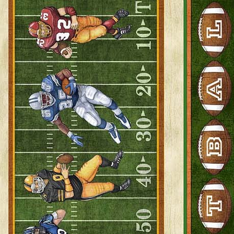Gridiron Football Stripe Cotton fabric by Quilting Treasures