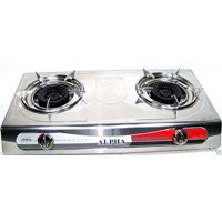 NEW PORTABLE DOUBLE BURNER PROPANE SUPER GAS STOVE LARGE CAMPING