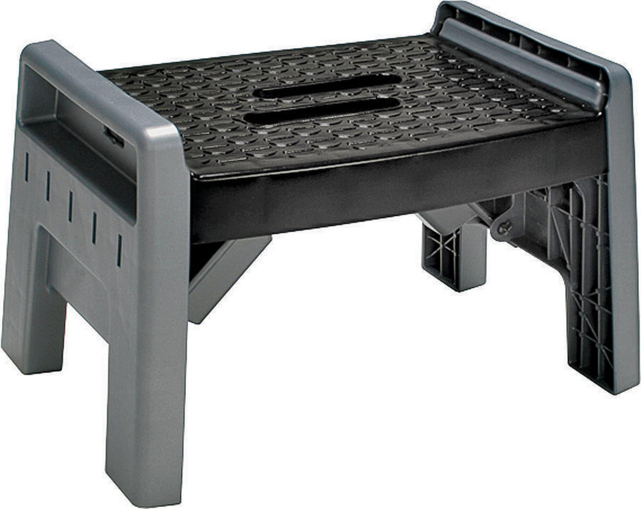 Cosco 11-905-PBL4 1-Step Folding Step Stool 3.38 in H  sc 1 st  Walmart : black plastic step stool - islam-shia.org