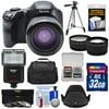 Kodak PixPro AZ651 Astro Zoom Wi-Fi Digital Camera with 32GB Card + Case + Flash + Tripod + 3 Filters + Tele/Wide Lens Kit