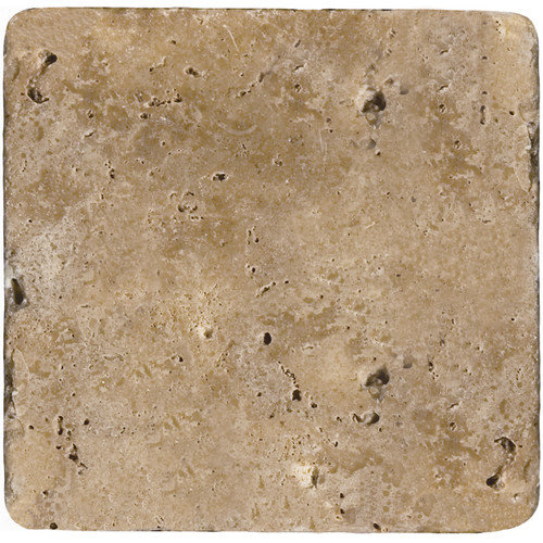 Emser Tile Natural Stone 6'' x 6'' Travertine Field Tile in Mocha